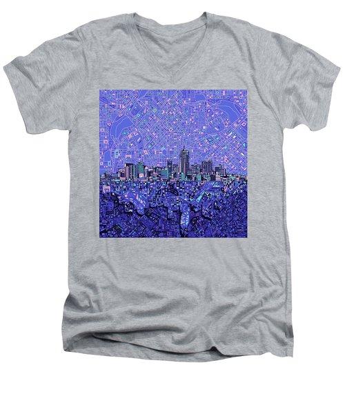 Denver Skyline Abstract 4 Men's V-Neck T-Shirt