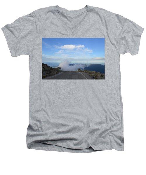 Descending Into The Clouds Men's V-Neck T-Shirt