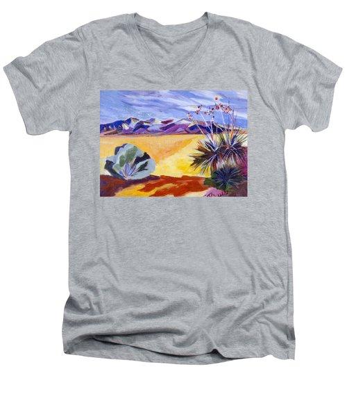 Desert And Mountains Men's V-Neck T-Shirt