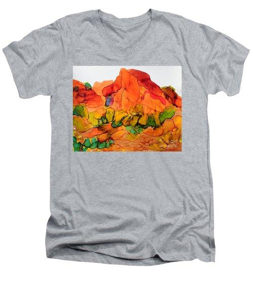 Desert Beauty 6 Men's V-Neck T-Shirt by Vicki  Housel