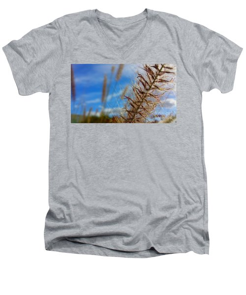 Men's V-Neck T-Shirt featuring the photograph Desert Foliage by Chris Tarpening