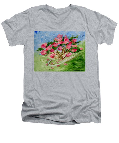 Desert Rose Abstract Men's V-Neck T-Shirt