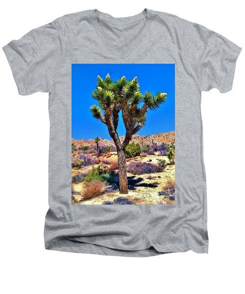 Desert Spring Men's V-Neck T-Shirt by Angela J Wright
