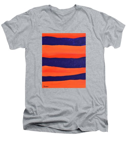 Desert Streams Men's V-Neck T-Shirt by Donna  Manaraze