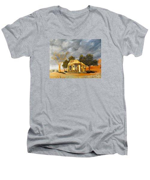 Deserted Castlemain Farmhouse Men's V-Neck T-Shirt