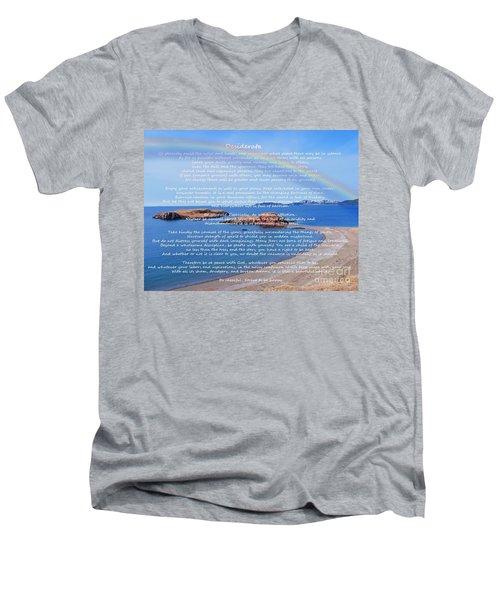 Desiderata  Men's V-Neck T-Shirt by Barbara Griffin