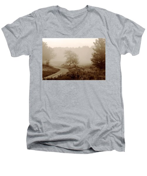 Men's V-Neck T-Shirt featuring the photograph Desolation  by Bruce Patrick Smith