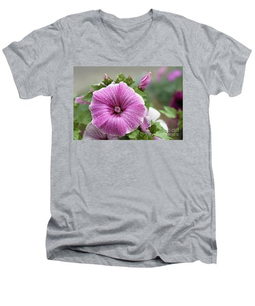 Dew Drop Petals Men's V-Neck T-Shirt