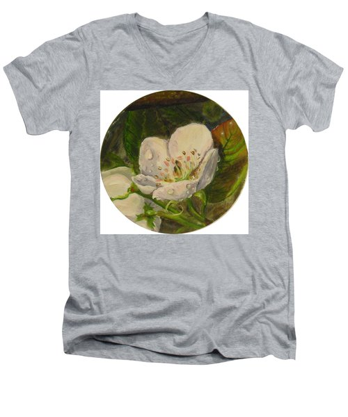 Dew Of Pear's Blooms Men's V-Neck T-Shirt
