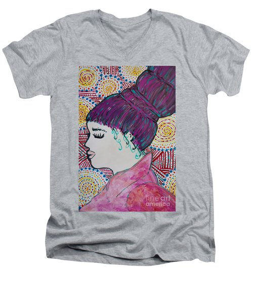 Did You See Her Hair Men's V-Neck T-Shirt