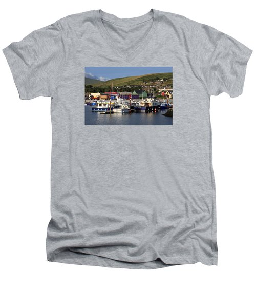Dingle Harbour County Kerry Ireland Men's V-Neck T-Shirt by Aidan Moran