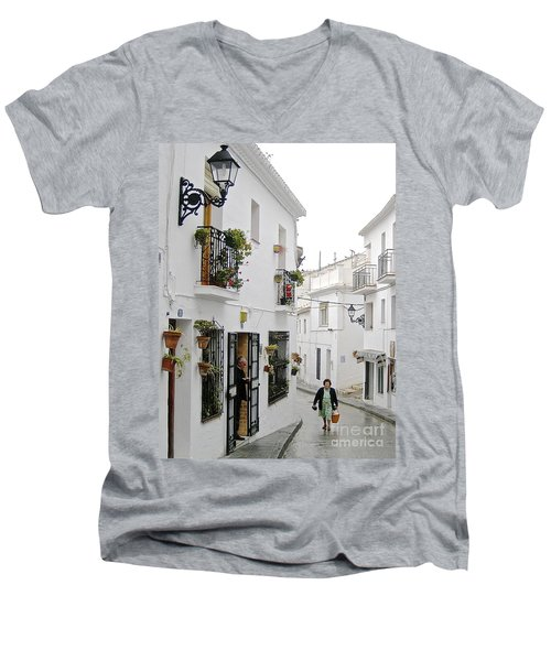 Dinner Delivery Men's V-Neck T-Shirt by Suzanne Oesterling