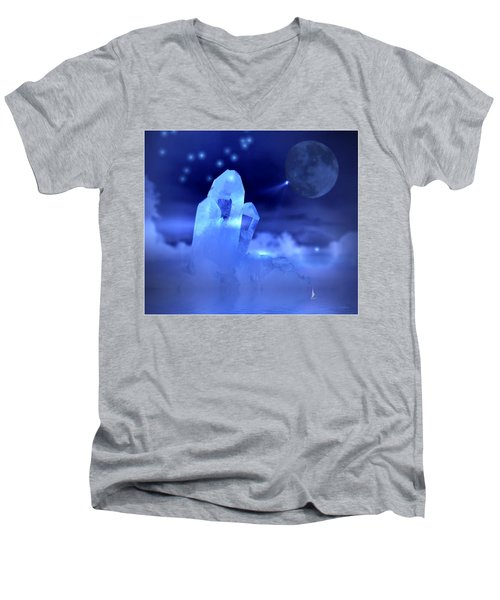 Men's V-Neck T-Shirt featuring the photograph Discoveries by Joyce Dickens