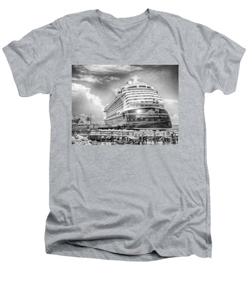 Men's V-Neck T-Shirt featuring the photograph Disney Fantasy by Howard Salmon