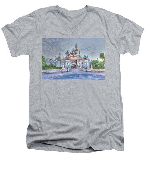 Disney Magic Men's V-Neck T-Shirt