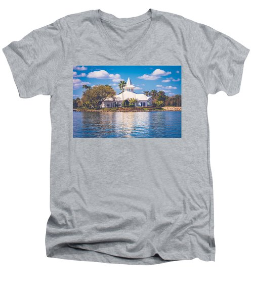 Disney's Wedding Pavilion Men's V-Neck T-Shirt