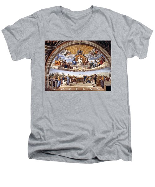 Disputation Of The Eucharist  Men's V-Neck T-Shirt