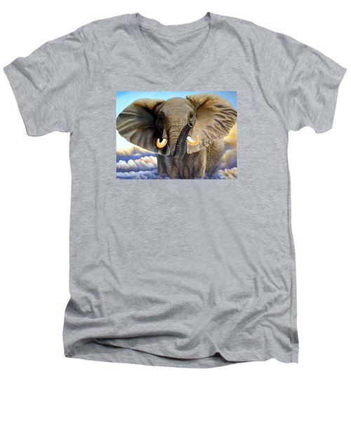 Da108 Distant Thunder By Daniel Adams Men's V-Neck T-Shirt