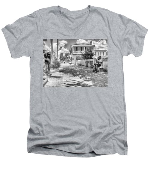 Men's V-Neck T-Shirt featuring the photograph Distraction by Howard Salmon