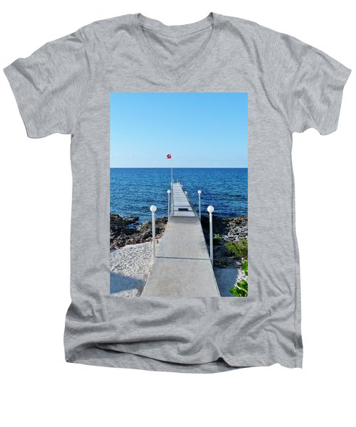 Men's V-Neck T-Shirt featuring the photograph Divers Down by Amar Sheow
