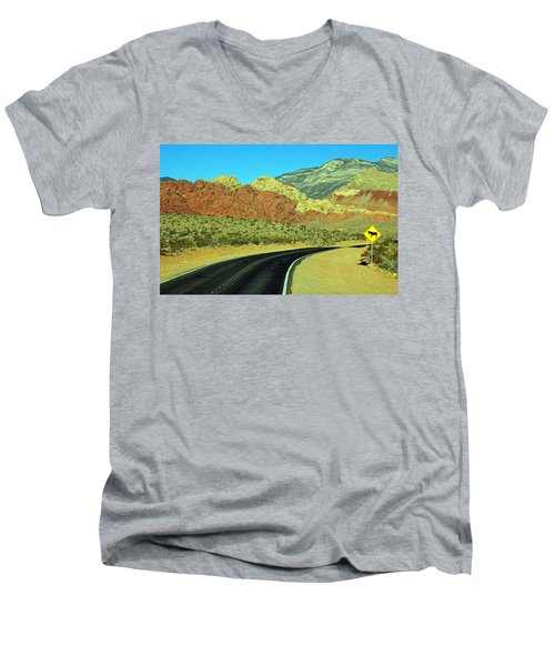Diversified Landscape Men's V-Neck T-Shirt