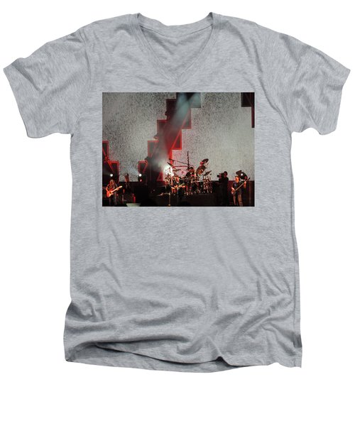 Men's V-Neck T-Shirt featuring the photograph Dmb Members by Aaron Martens