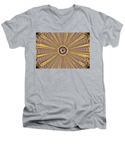 Men's V-Neck T-Shirt featuring the drawing Dna Miracle Creation by Derek Gedney
