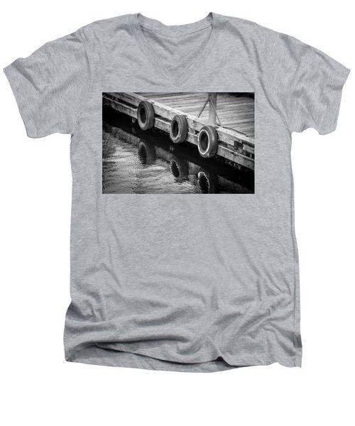 Dock Bumpers Men's V-Neck T-Shirt by Melinda Ledsome