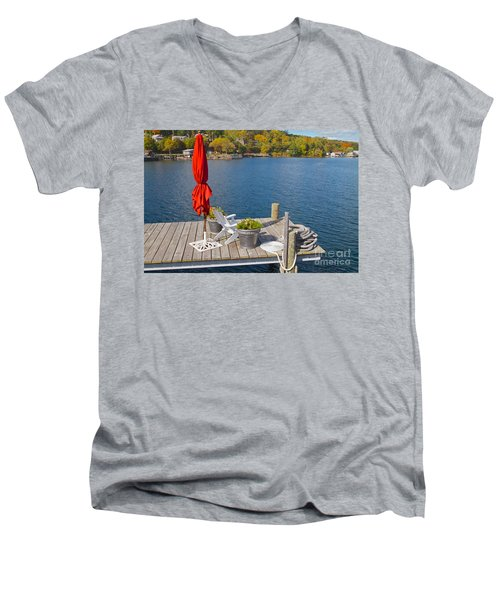 Dock By The Bay Men's V-Neck T-Shirt by William Norton