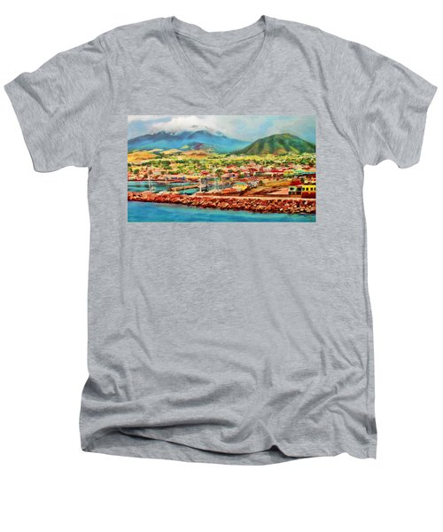 Docked In St. Kitts Men's V-Neck T-Shirt