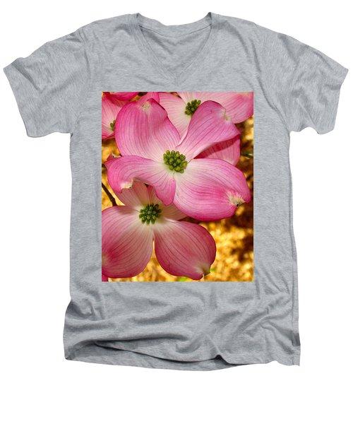 Dogwood In Pink Men's V-Neck T-Shirt