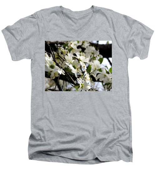 Dogwoods In The Spring Men's V-Neck T-Shirt