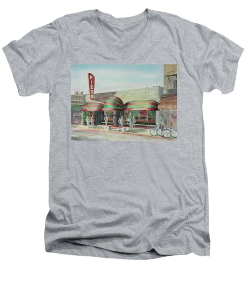 Domenicos In Long Beach Men's V-Neck T-Shirt