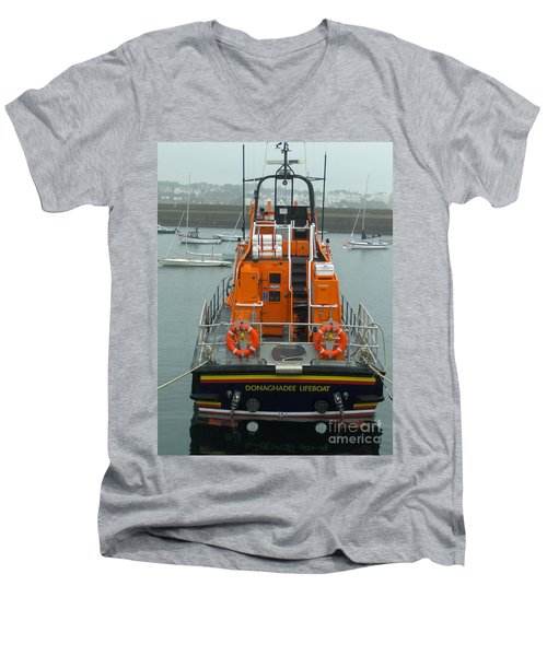 Donaghadee Rescue Lifeboat Men's V-Neck T-Shirt