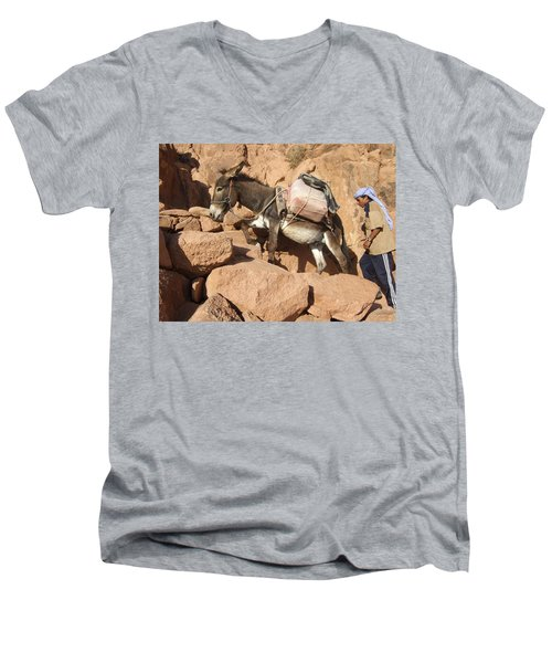 Donkey Of Mt. Sinai Men's V-Neck T-Shirt