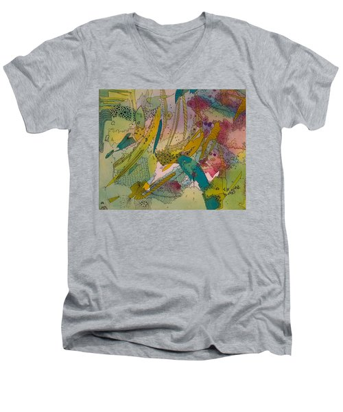 Doodles With Abstraction Men's V-Neck T-Shirt