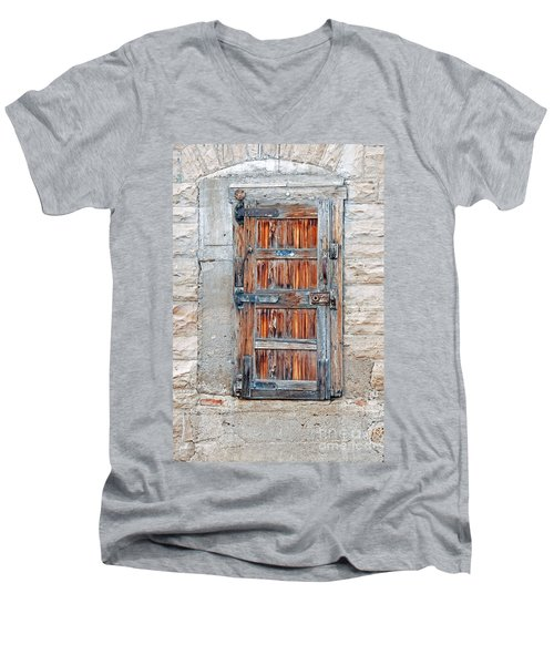 Men's V-Neck T-Shirt featuring the photograph Door Series by Minnie Lippiatt
