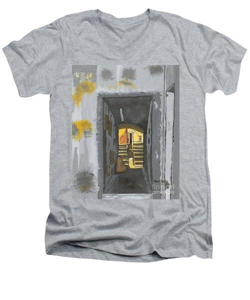 Doorway In Cinque Terra Men's V-Neck T-Shirt
