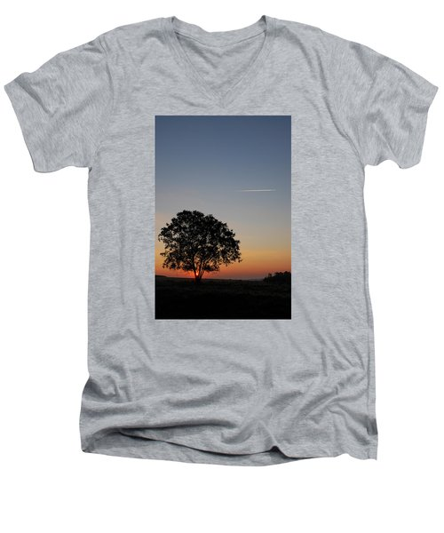 Men's V-Neck T-Shirt featuring the photograph Dorset Dawn by Wendy Wilton