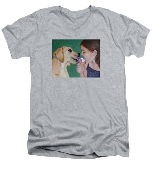 Double Dip - Ice Cream For Two Men's V-Neck T-Shirt