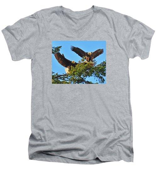 Double Landing Men's V-Neck T-Shirt