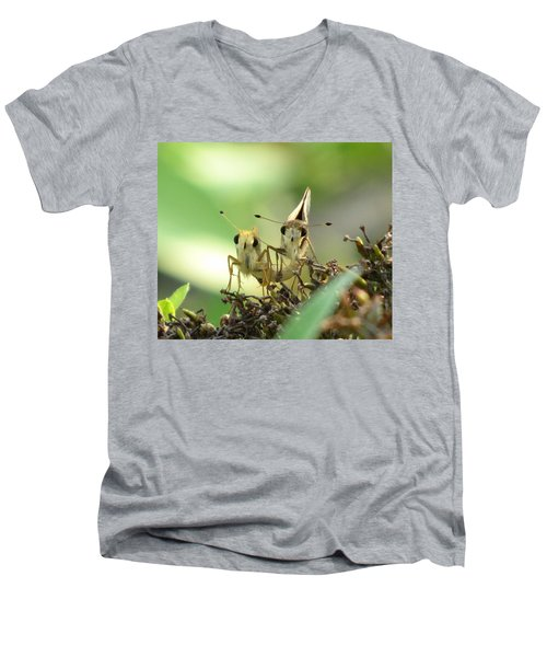 Men's V-Neck T-Shirt featuring the photograph Double Trouble by Jennifer Wheatley Wolf