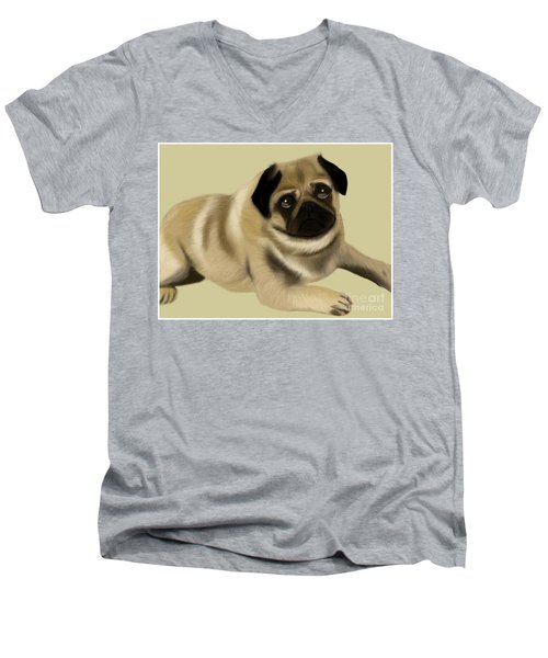Doug The Pug Men's V-Neck T-Shirt