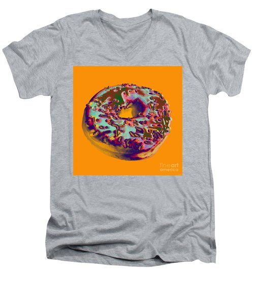 Doughnut Men's V-Neck T-Shirt by Jean luc Comperat