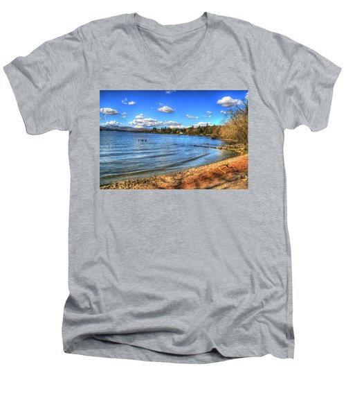 Men's V-Neck T-Shirt featuring the photograph Down By The Riverside by Doc Braham
