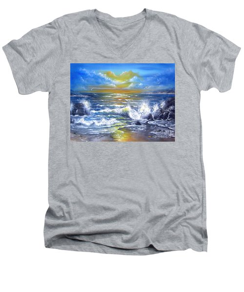 Down Came The Sun  Men's V-Neck T-Shirt