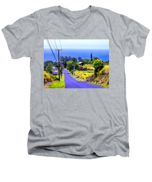 Down Into Honokaa Men's V-Neck T-Shirt