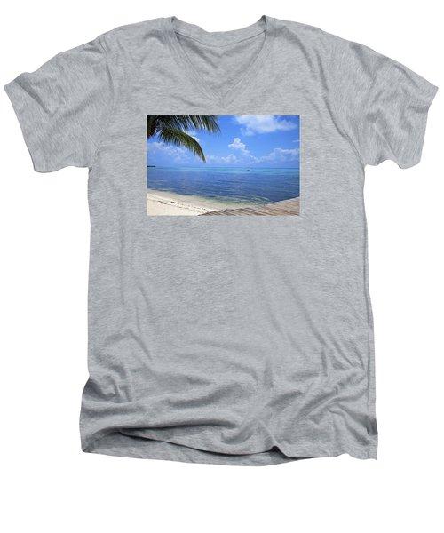 Down Island Men's V-Neck T-Shirt
