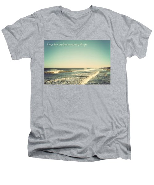 Down The Shore Seaside Heights Vintage Quote Men's V-Neck T-Shirt