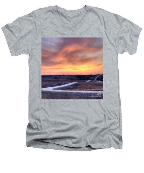 Down To The Rolling Hills Men's V-Neck T-Shirt